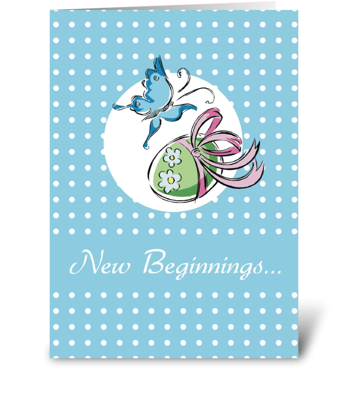 Easter Butterfly New Beginnings  greeting card