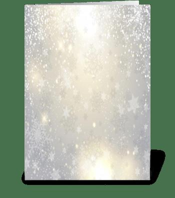 winter snowflakes greeting card