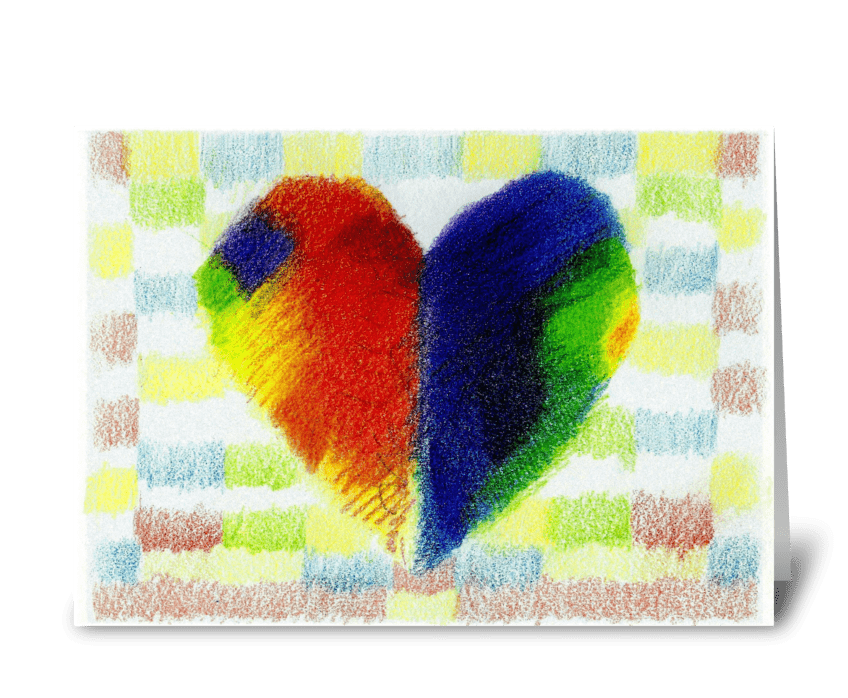 Patchwork Heart greeting card