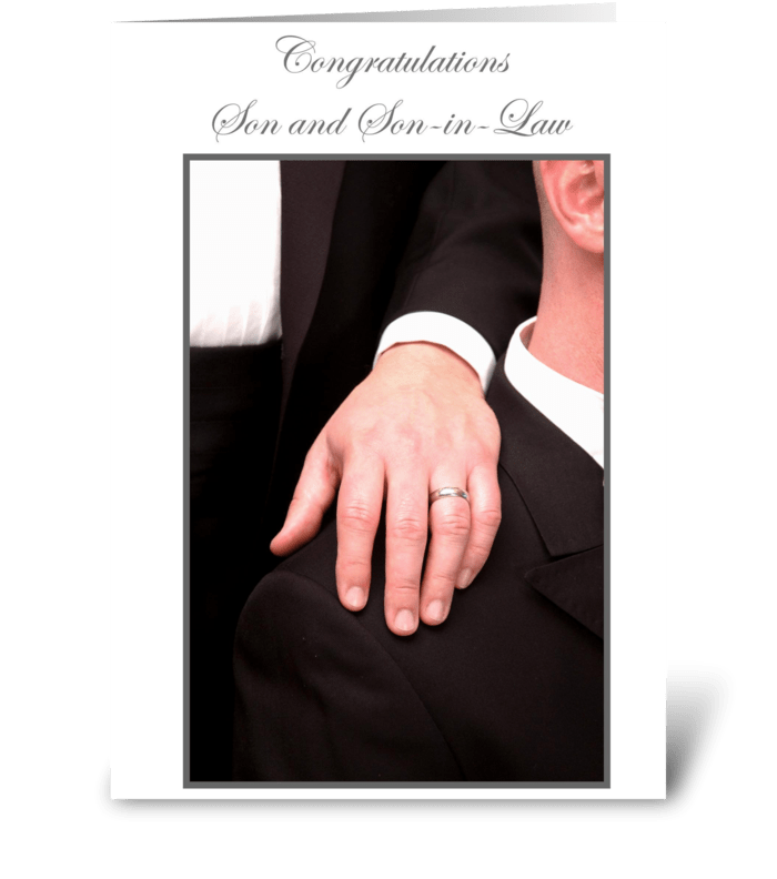 Congratulations Son and Son-in-law greeting card