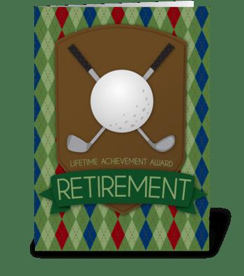 Retirement Award greeting card