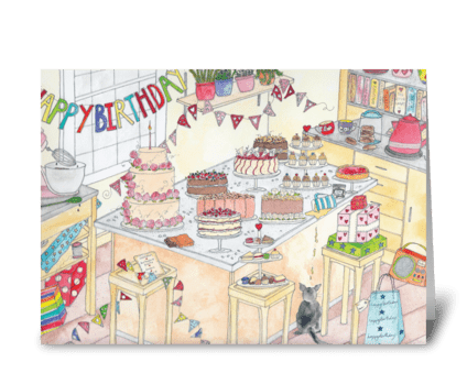 Happy Birthday @ The Love Cakery greeting card
