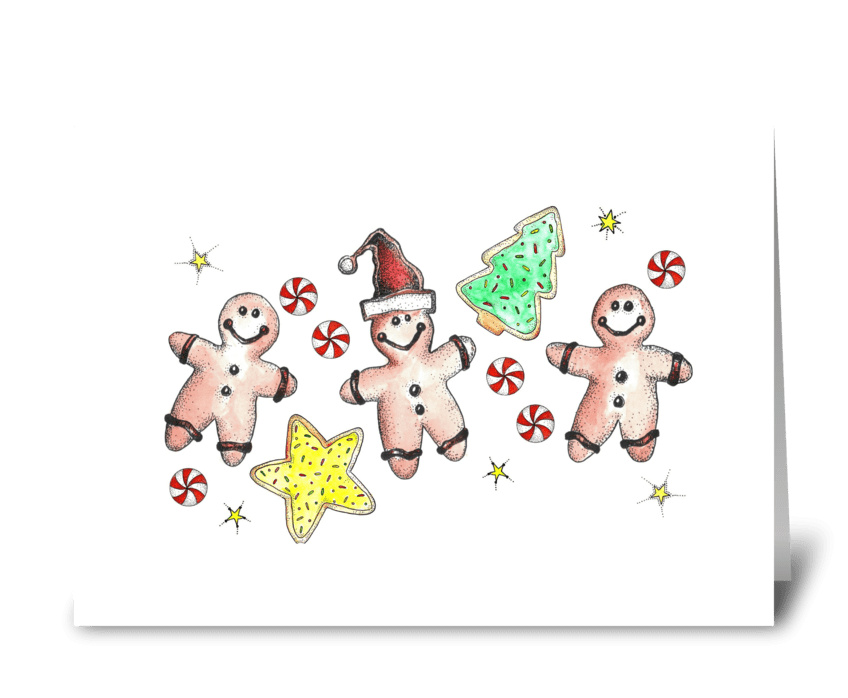 Holiday Sweets and Treats greeting card