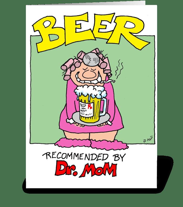 Dr. Mom greeting card