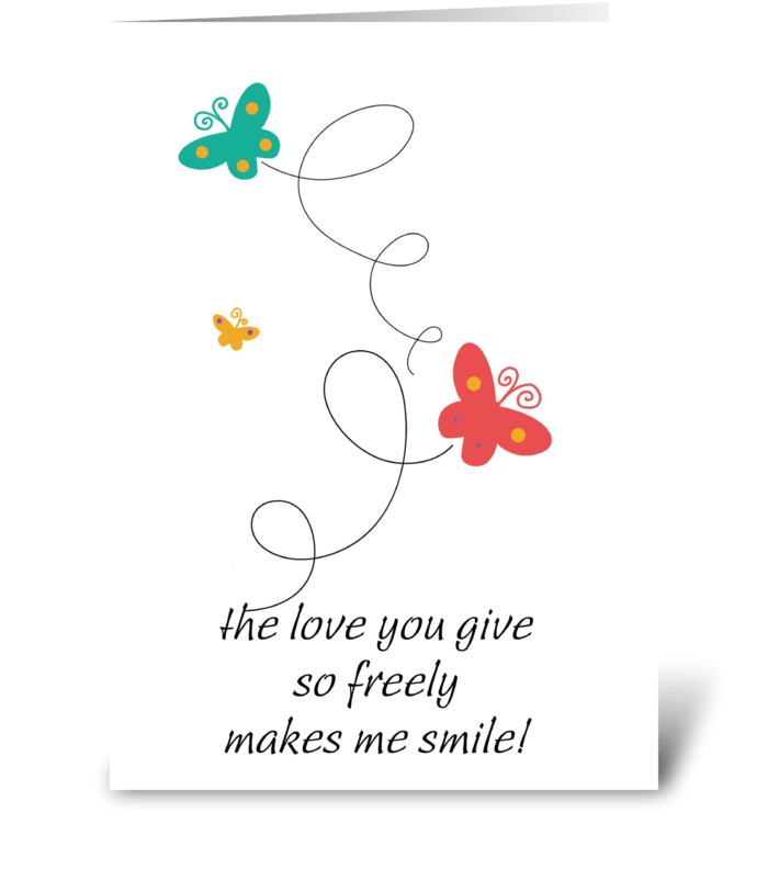 Dancing Butterflies greeting card