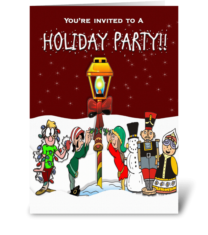 Holiday Party Invitation greeting card