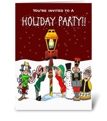 Holiday Party Invitation greeting card