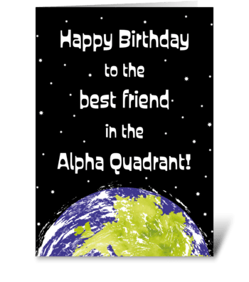 84 Star Trek Birthday Best Friend greeting card