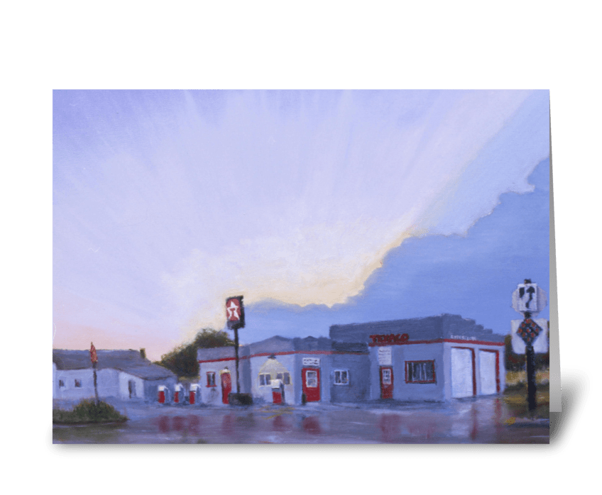 The Texaco in Potter, Nebraska greeting card