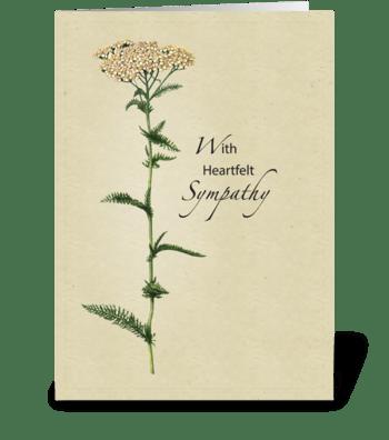 Tall Natural Wildflower Sympathy greeting card