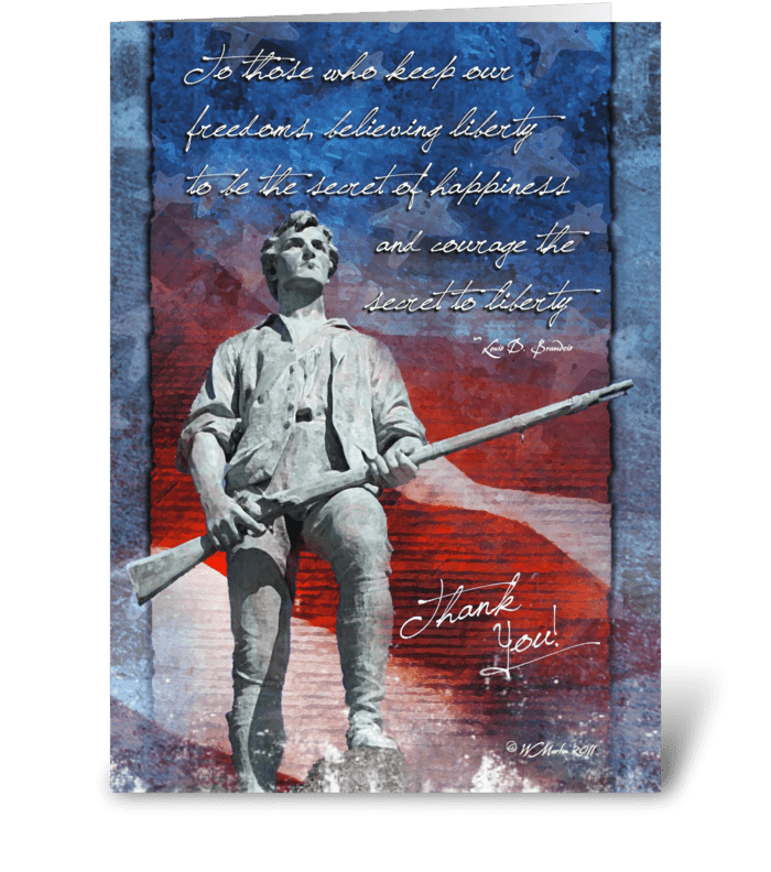 Minuteman Troop Support Greeting Card greeting card