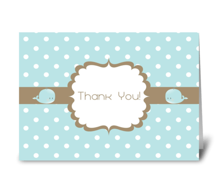 Thank You Baby Shower Card greeting card