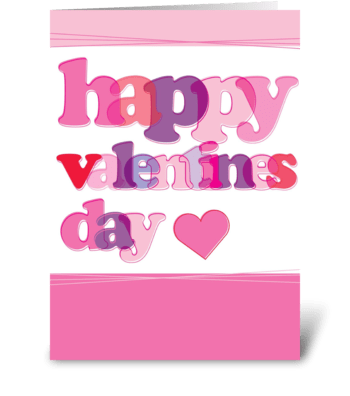 Happy Valentines greeting card