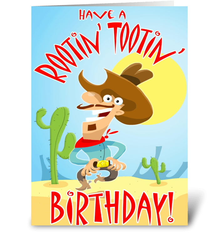 Rootin' Tootin' BirthDay Card greeting card