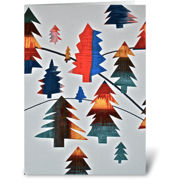 Holiday Tree Magic greeting card