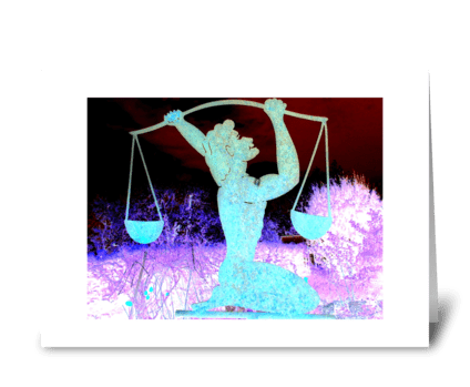 LIBRA ~ The Scales greeting card