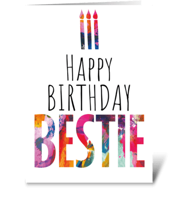 96 Bestie Birthday Card greeting card