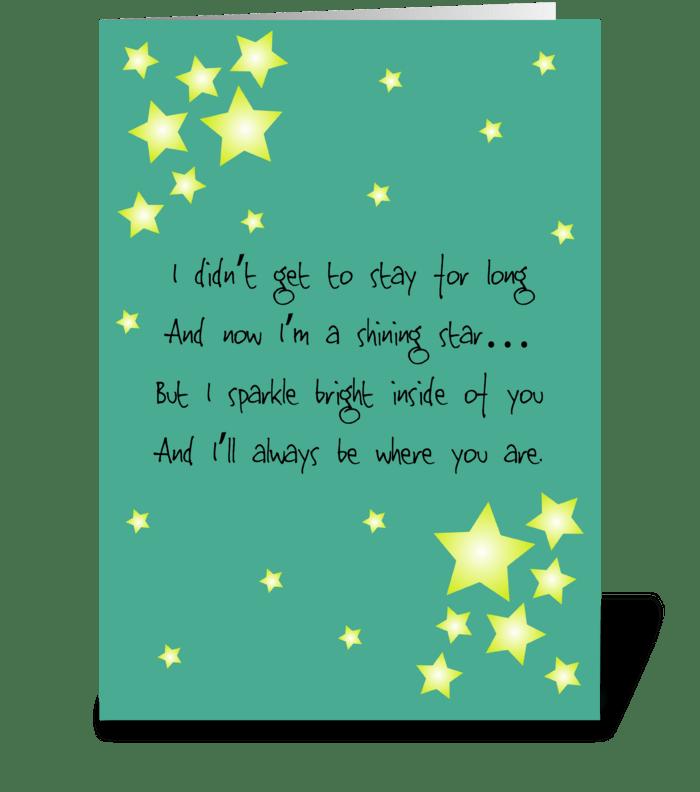 138 Bereaved Mom / Dad card greeting card