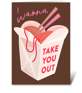 Take Out greeting card