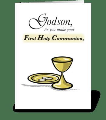 Godson First Communion greeting card