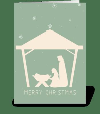 Nativity Card greeting card