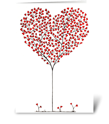 Red Hearts greeting card