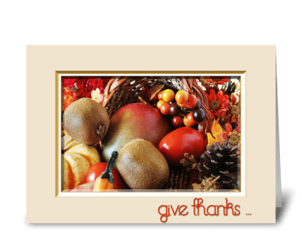 Thanksgiving Cornucopia greeting card