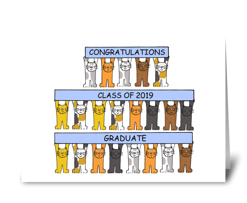 Congratulations Class of 2019 Graduate. greeting card