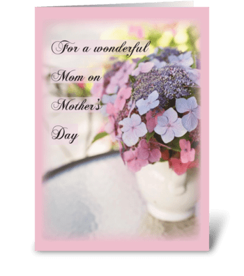 Mother's Day Flower on Table greeting card