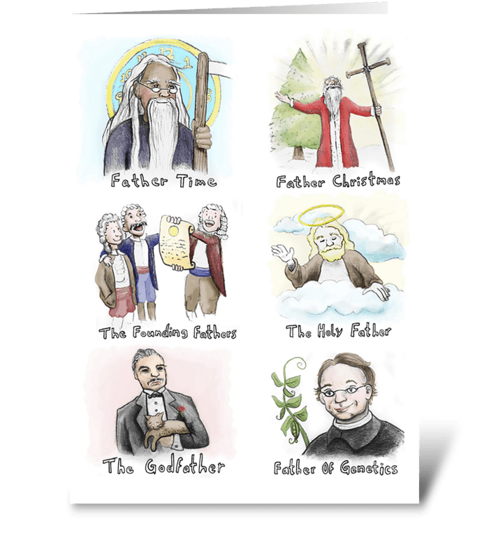 Types of Fathers greeting card