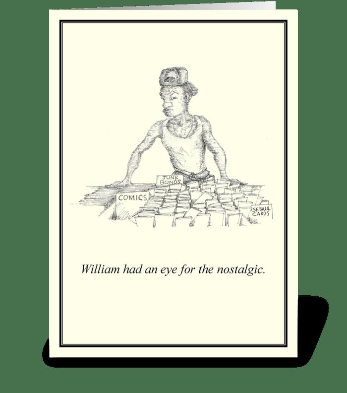Nostalgic William greeting card
