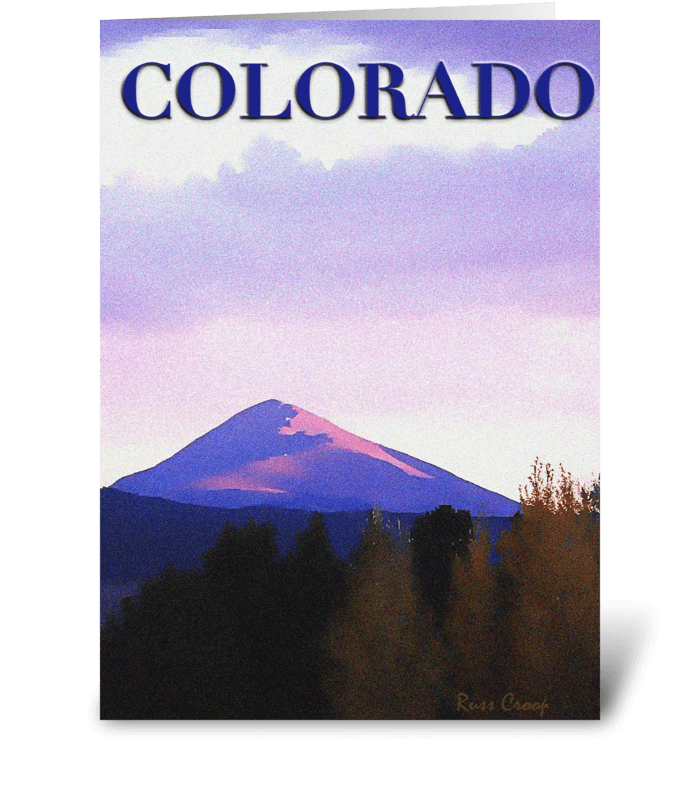 Colorado Travel Poster greeting card