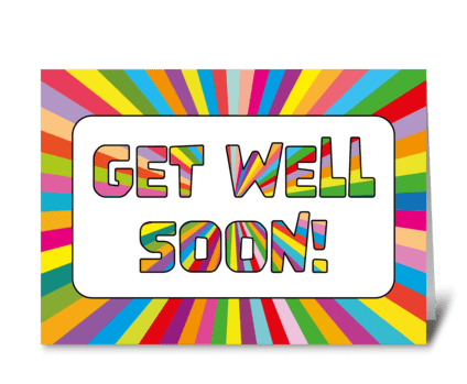 77 Get Well Sunburst Letters greeting card