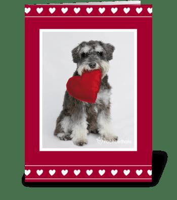 Happy Valentines greeting card