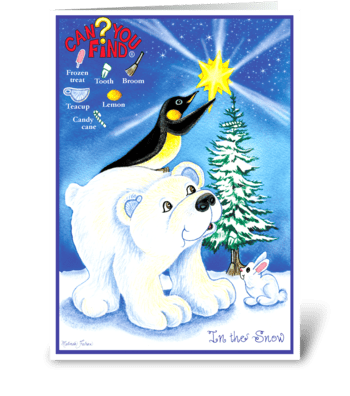 Christmas Card for Children  greeting card