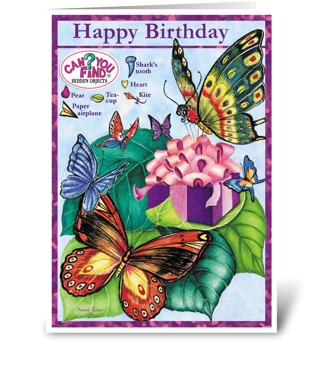 butterfly birthday card  send this greeting card designed