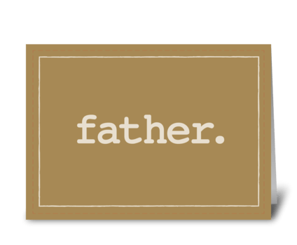 For Father Definition on Father's Day greeting card