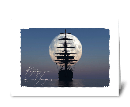 Sailing Ship sympathy card greeting card