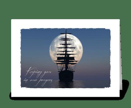 Sailing Ship sympathy card greeting card