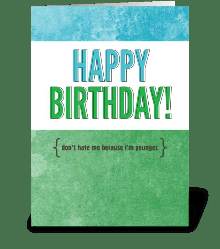 Birthday Sass greeting card