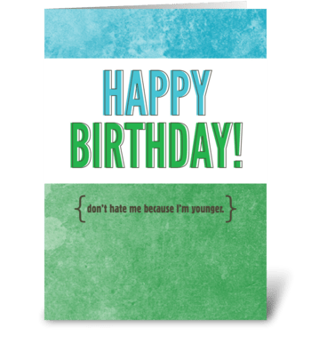 Birthday Sass greeting card