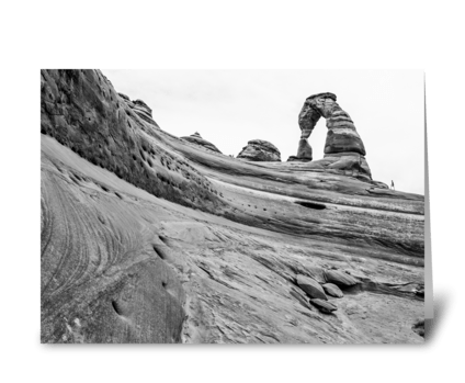 Delicate Arch From Below greeting card