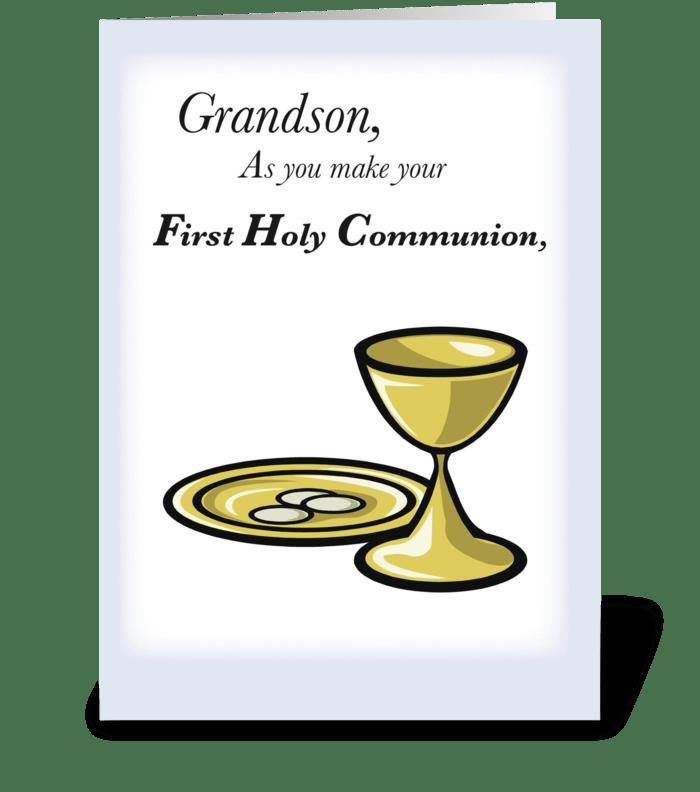 Grandson First Communion greeting card