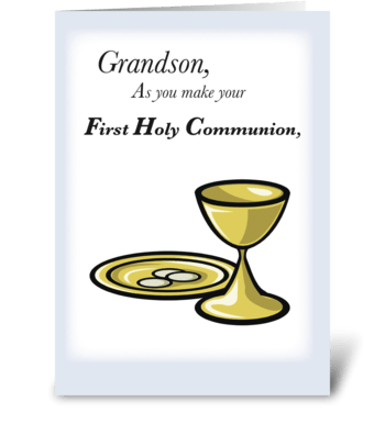 Grandson First Communion greeting card