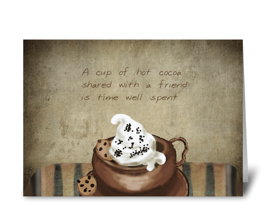 Hot cocoa & friends greeting card
