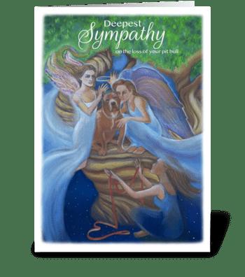 Loss of Pit Bull Sympathy greeting card