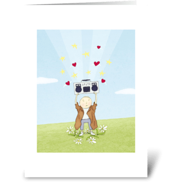 Boombox Love Greeting Card greeting card