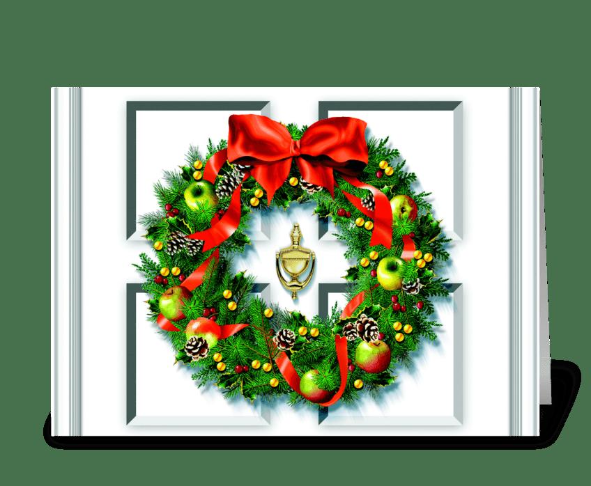 Apple Wreath greeting card