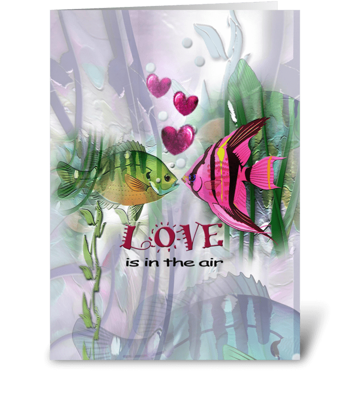 Fishies in Love greeting card