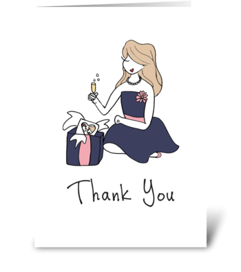 Sophie Thank You greeting card